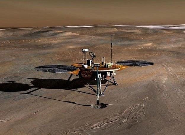 Wizualizacja ziemskiego urządzenia na powierzchni Marsa /AFP