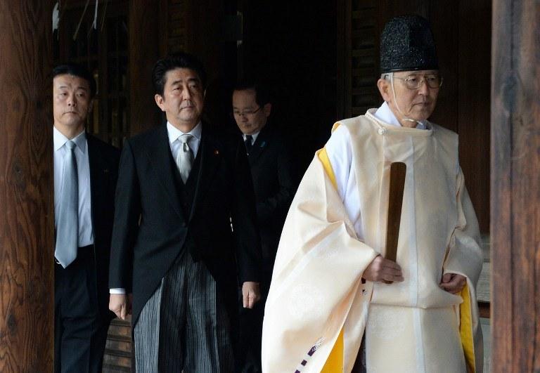 Wizyta japońskiego premiera w świątyni Yasukuni /AFP
