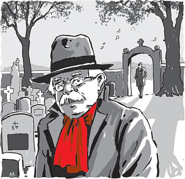 Wizyta na grobie matki była tylko pretekstem... /rys. Andrzej Fonfara /Śledztwo