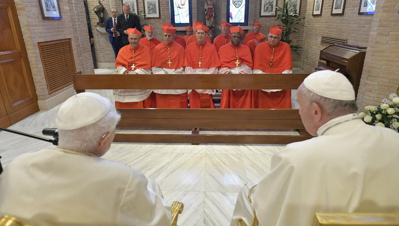 Wizyta nowych kardynałów u papieża Benedykta XVI /VATICAN MEDIA HANDOUT /PAP/EPA