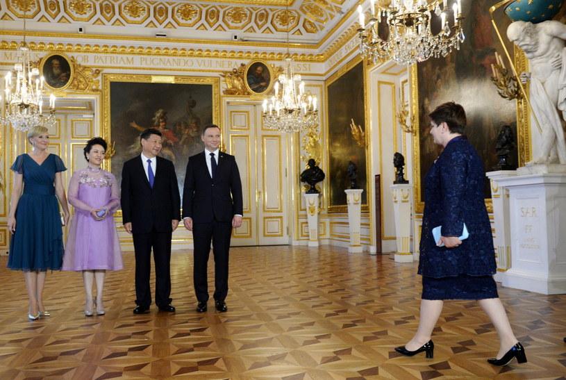 Wizyta prezydenta Chin w Polsce /Jacek Turczyk /PAP