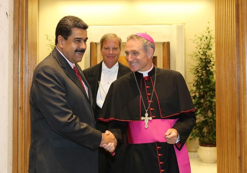 Wizyta prezydenta Maduro w Watykanie /MIRAFLORES PALACE /PAP/EPA