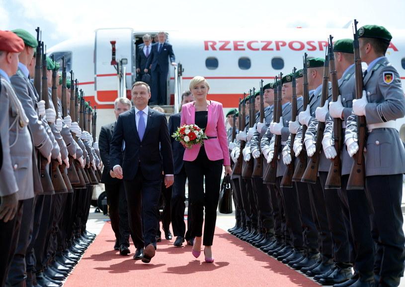 Wizyta prezydenta RP Andrzeja Dudy z małżonką w Republice Federalnej Niemiec /Jacek Turczyk /PAP