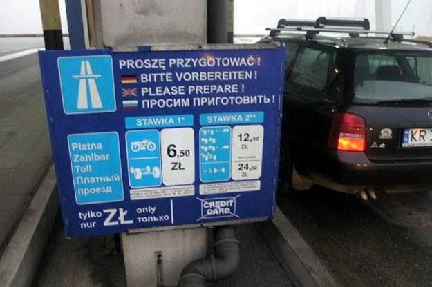 Wjazd na płatny odcinek A4 /INTERIA.PL