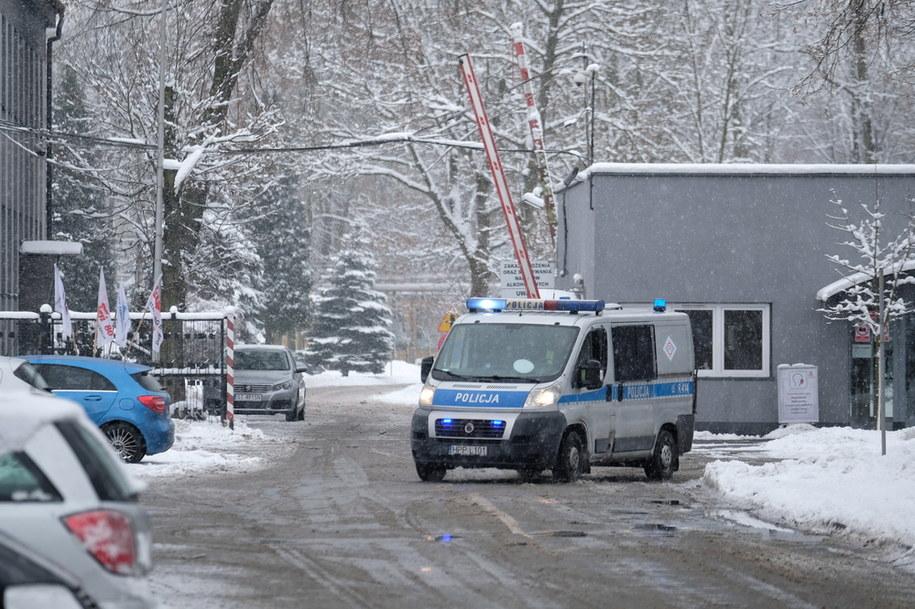 Wjazd na teren zakładów Nitroerg przy pl. Alfreda Nobla w Bieruniu / Andrzej Grygiel    /PAP
