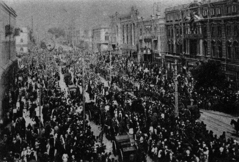 Wkroczenie wojsk polskich do Kijowa, 09 V 1920 rok /Piotr Mecik /Agencja FORUM
