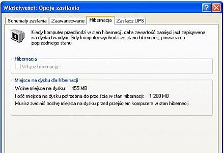 Włączenie hibernacji zaoszczęści na pracy baterii /CafePC.pl