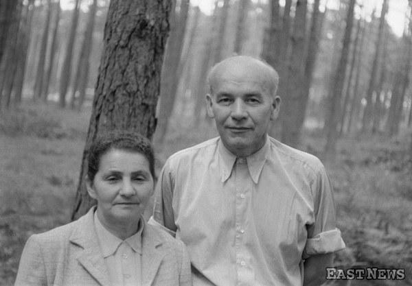 Władysław Gomułka z żoną Zofią w Ciechocinku 1956 rok