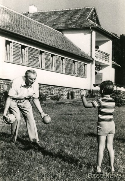Edward Gierek z synem
