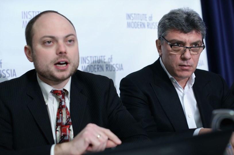 Władimir Kara-Murza i Borys Niemcow w 2014 roku /AFP