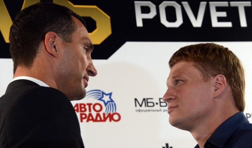 Władimir Kliczko i Aleksander Powietkin /AFP
