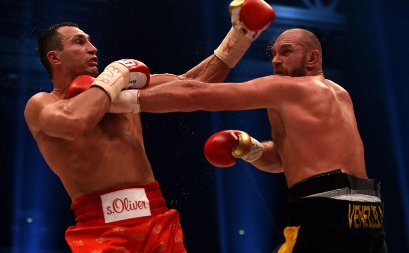 Władimir Kliczko i Tyson Fury /AFP