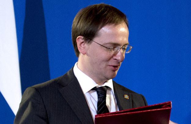 Władimir Medinski zarzucił Polsce złamanie konwencji o jeńcach wojennych fot. Martin Bureau /AFP