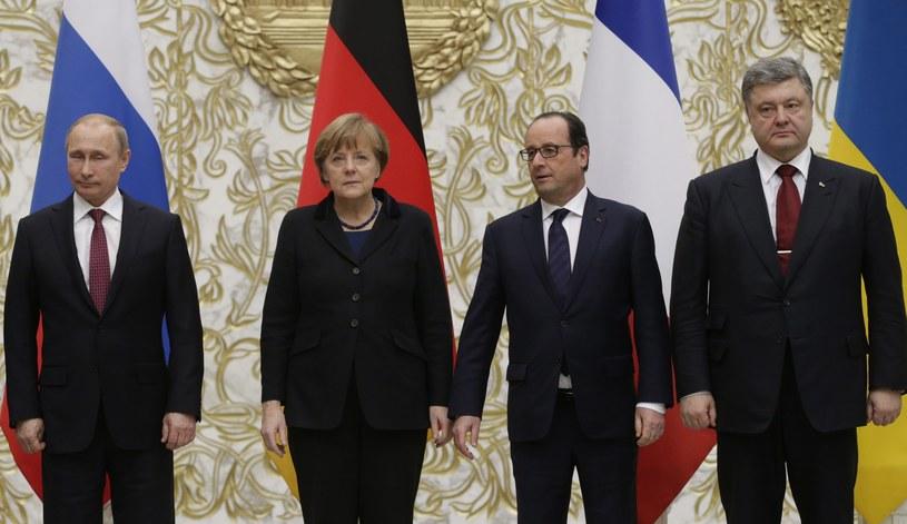 Władimir Putin, Angela Merkel, Francois Hollande i Petro Poroszenko /PAP/EPA