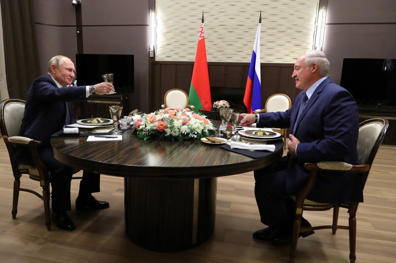 Władimir Putin i Alaksandr Łukaszenka /PAP/EPA