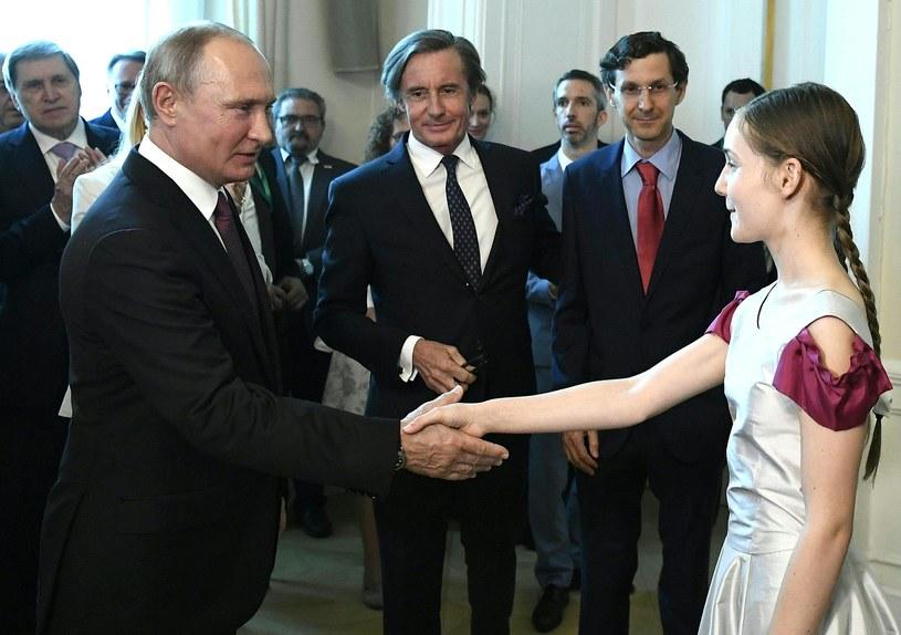 Władimir Putin i Alma Deutscher /ROBERT JAEGER / APA  /AFP