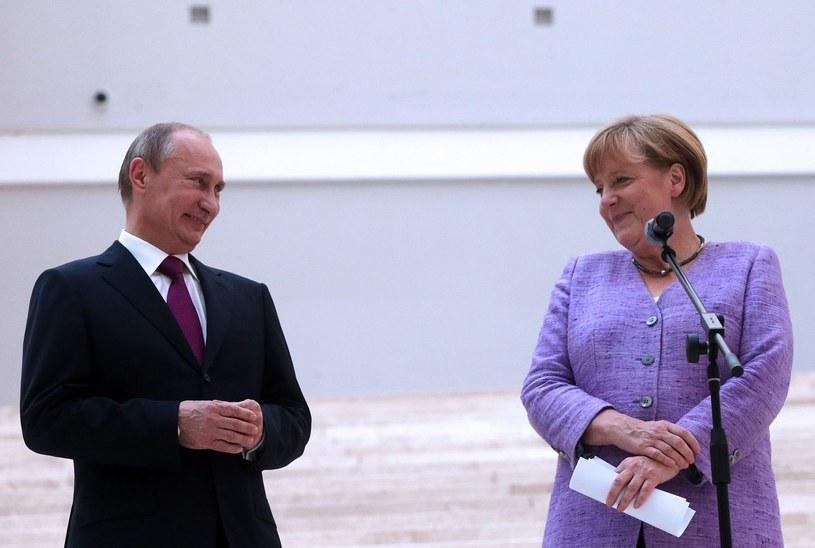 Władimir Putin i Angela Merkel /AFP