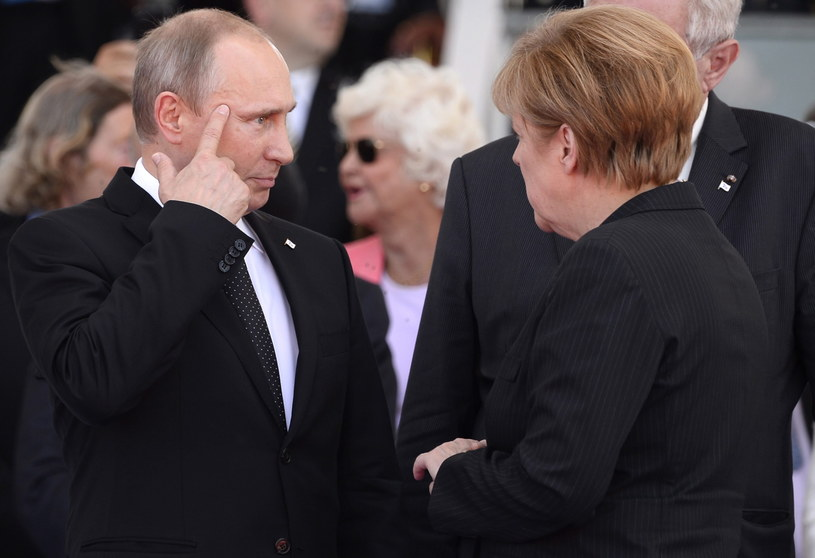 Władimir Putin i Angela Merkel /PAP/EPA