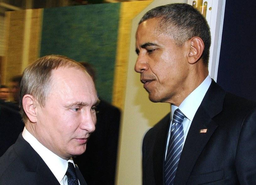 Władimir Putin i Barack Obama /MIKHAIL KLIMENTYEV /AFP