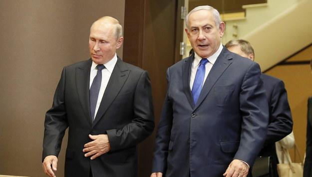 Władimir Putin i Benjamin Netanjahu /SHAMIL ZHUMATOV / POOL /PAP/EPA