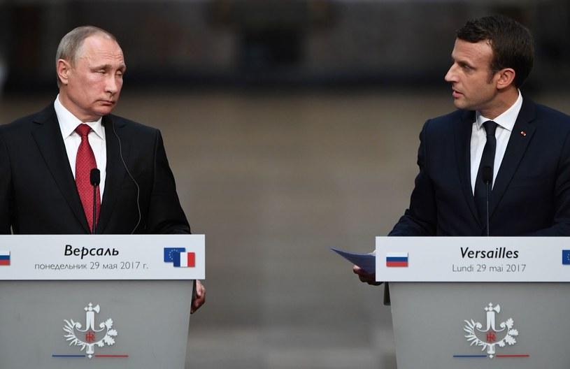 Władimir Putin i Emmanuel Macron /AFP
