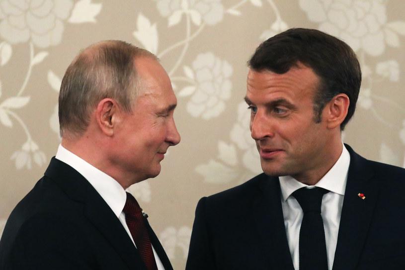Władimir Putin i Emmanuel Macron /LUDOVIC MARIN /AFP