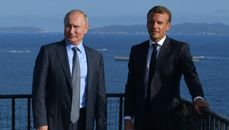 Władimir Putin i Emmanuel Macron /Alexei Druzhinin /PAP/EPA
