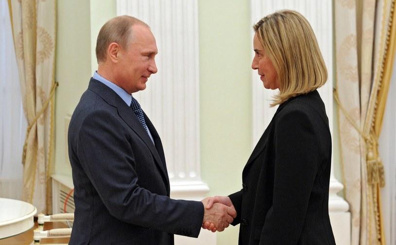 Władimir Putin i Federica Mogherini. /AFP