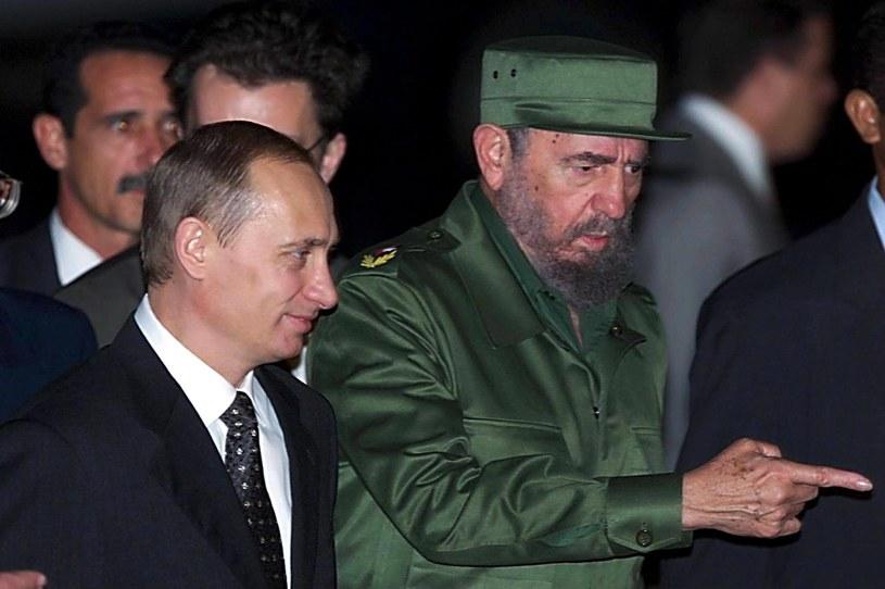 Władimir Putin i Fidel Castro /SERGEI CHIRIKOV /PAP/EPA