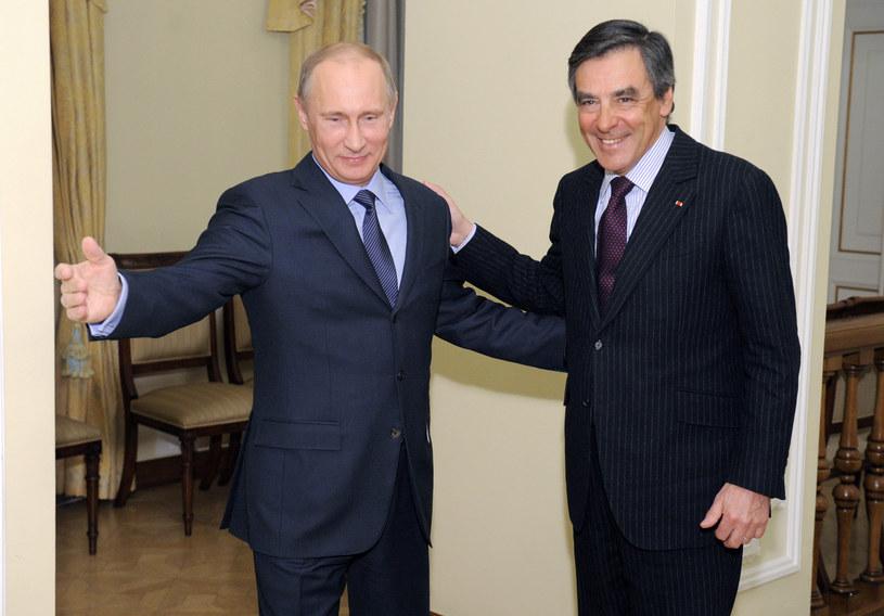 Władimir Putin i Francois Fillon /AFP