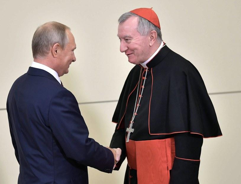 Władimir Putin i kardynał Pietro Parolin / EPA/ALEXEY NIKOLSKY / SPUTNIK / KREMLIN POOL /PAP/EPA