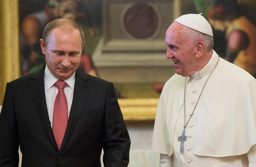 Władimir Putin i papież Franciszek /Sergey Guneev/Sputnik /East News