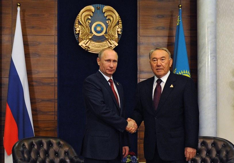 Władimir Putin i prezydent Kazachstanu Nursułtan Nazarbajew /AFP