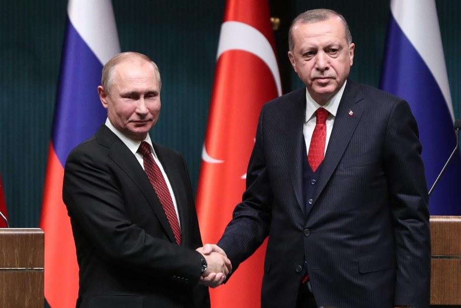 Władimir Putin i Recep Erdogan /TUMAY BERKIN /PAP/EPA