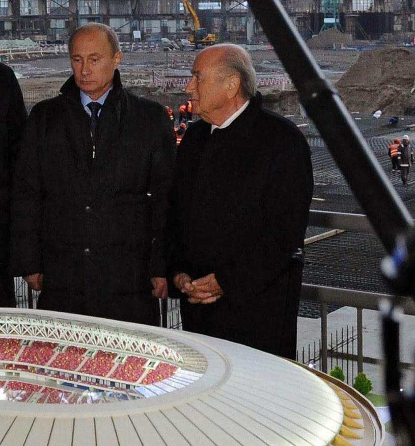 Władimir Putin i Sepp Blatter szykują mundial w Rosji /AFP