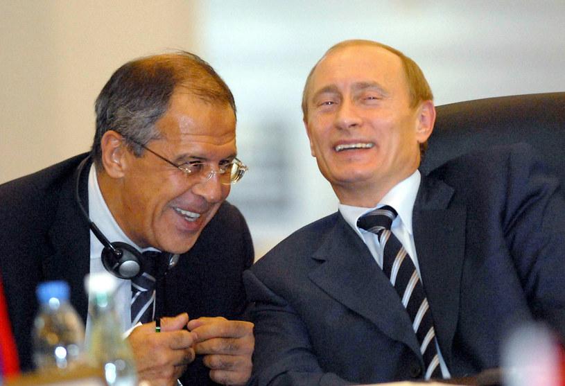 Władimir Putin i Siergiej Ławrow /AFP