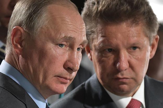 Władimir Putin (L), prezydent Rosji i Aleksiej Miller, prezes Gazpromu /AFP