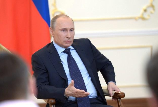 Władimir Putin na konferencji prasowej /ALEXEY NIKOLSKY/RIA NOVOSTI/KREMLIN POOL /PAP/EPA