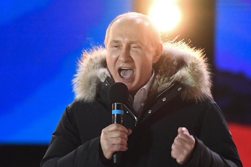 Władimir Putin na wiecu w centrum Moskwy podziękował wyborcom /Kirill Kudryavtsev /AFP