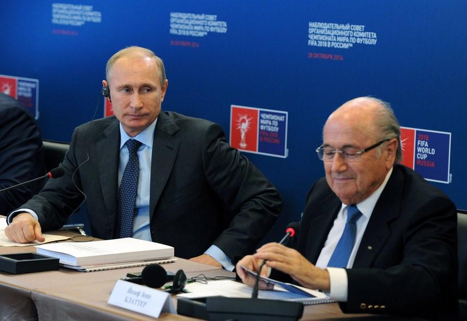 Władimir Putin na zdjęciu na spotkaniu z prezydentem FIFA Josephem Blatterem /MIKHAIL KLEMENTEV /PAP/EPA