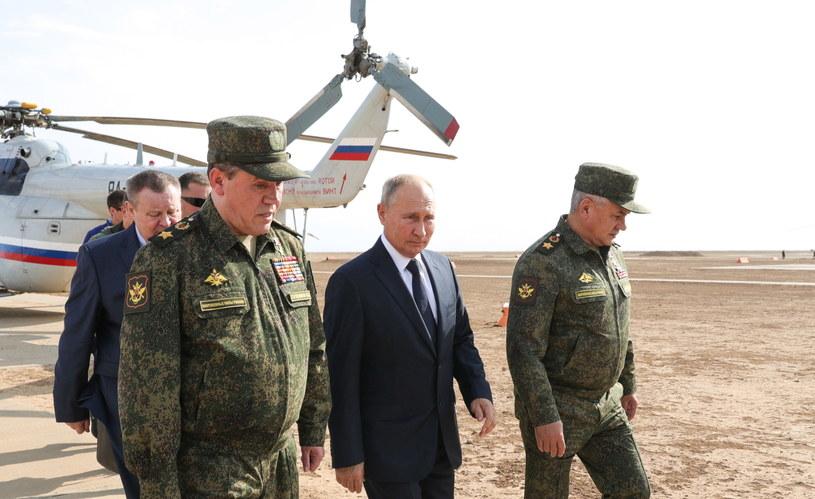 Władimir Putin obserwował główny etap manewrów Kaukaz-2020 /MICHAIL KLIMENTYEV / SPUTNIK /PAP/EPA