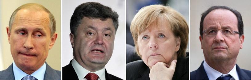 Władimir Putin, Petro Poroszenko, Angela Merkel i Francois Hollande /PAP/EPA