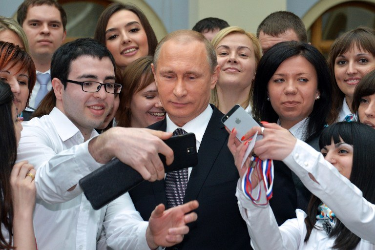 Władimir Putin po konferencji /ALEXEI DRUZHININ / RIA NOVOSTI  /AFP