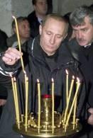 Władimir Putin podczas jednego z nabożeństw /RMF24.pl