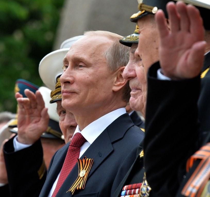 Władimir Putin podczas obchodów Dnia Zwycięstwa. 9 maja 2014, Sewastopol /Yuri Kadobnov /East News