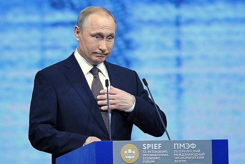 Władimir Putin podczas przemowy /Olga Maltseva /AFP
