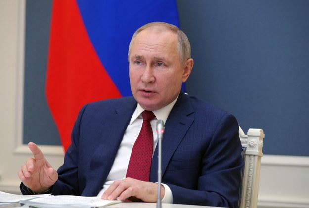 Władimir Putin podczas wystąpienia w trakcie Światowego Forum Ekonomicznego, które odbywa się wyłącznie on-line /MICHAIL KLIMENTYEV/SPUTNIK/KREMLIN / POOL /PAP/EPA