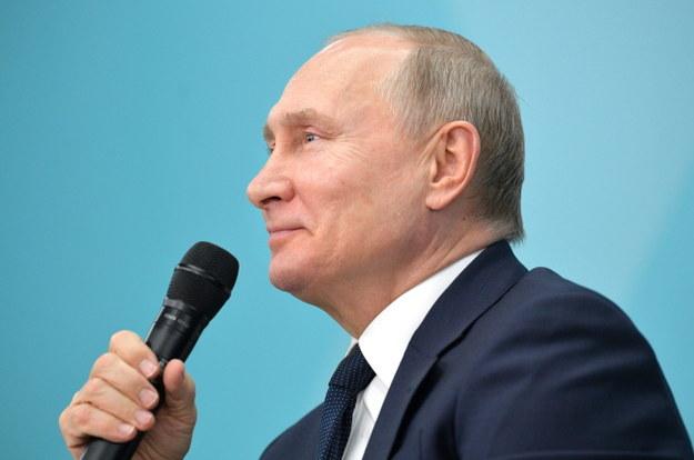 Władimir Putin: Rosja musi pozostać silną republiką prezydencką /ALEXEI DRUZHININ / SPUTNIK / KREMLIN POOL / POOL /PAP/EPA