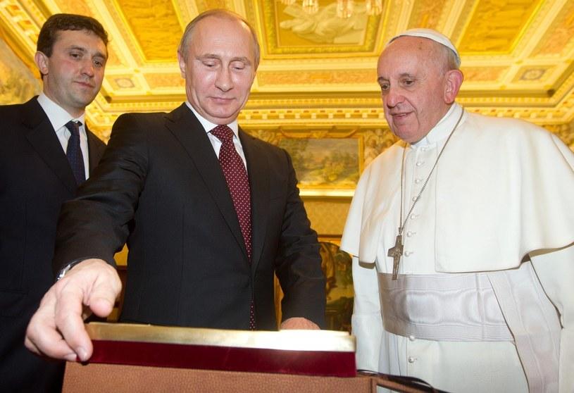 Władimir Putin u papieża Franciszka /PAP/EPA