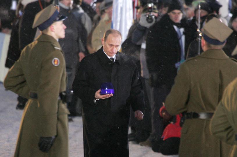 Władimir Putin w Auschwitz- Birkenau w 2005 roku /AFP